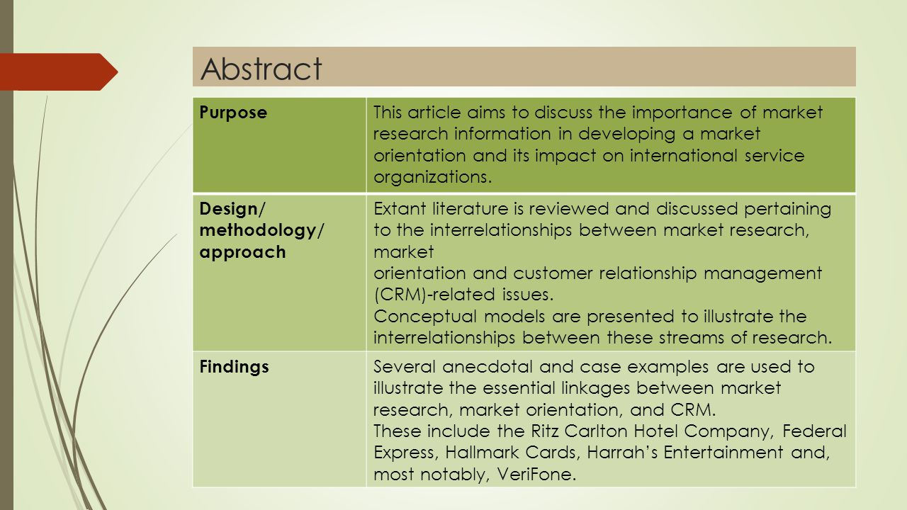 purpose abstract research papers