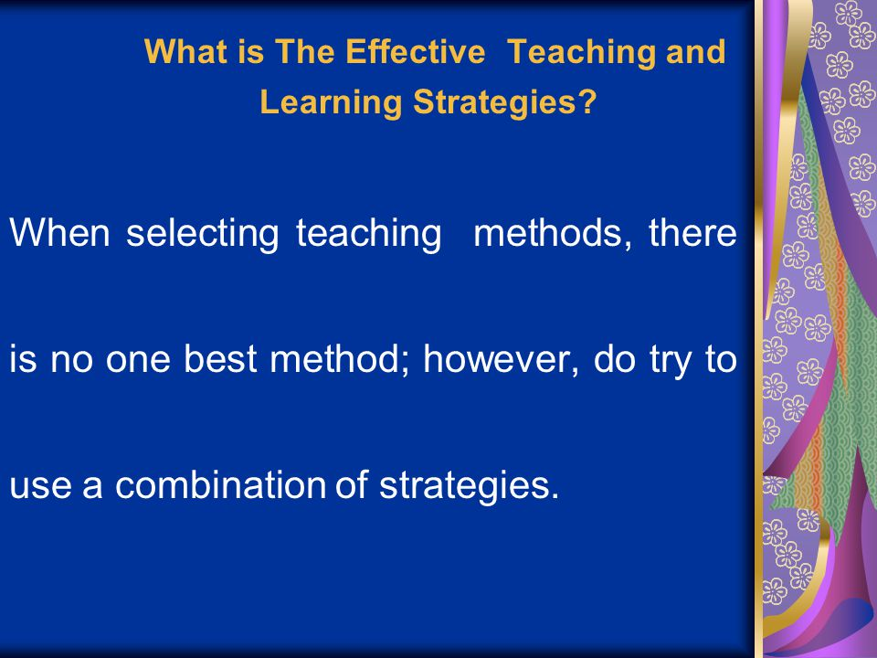 what is effective teaching and learning pdf
