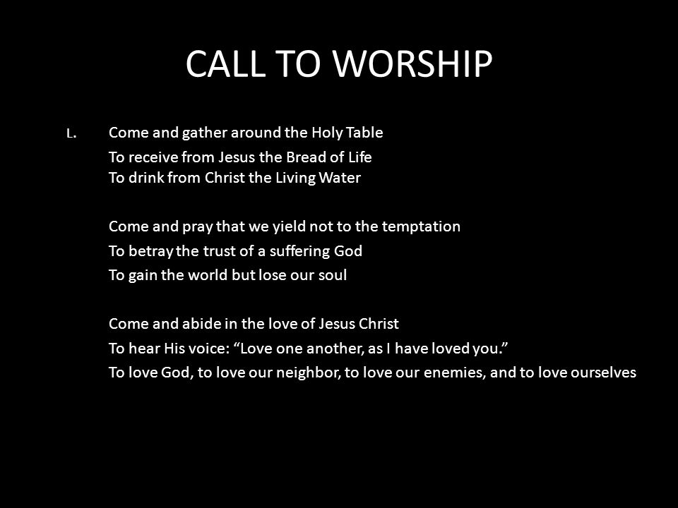 Understanding the Call to Worship