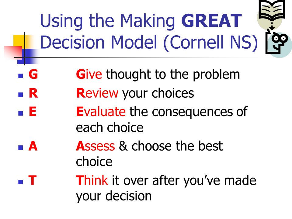 biggest obstacle in making good decision Others are big and can have a major influence on the course of our life, such as   discover which decision-making mistakes and obstacles might be  getting a  puppy even though a dog would likely make a great pet for you.