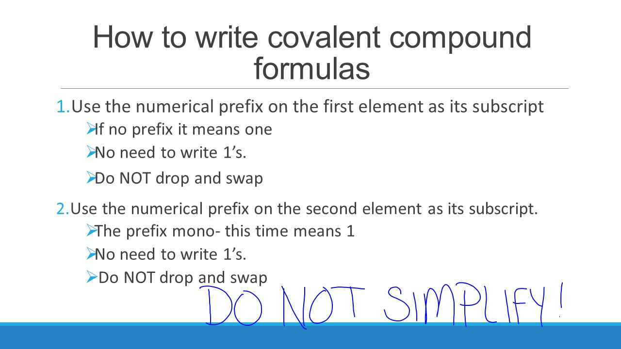 how to know if its a covalent compound