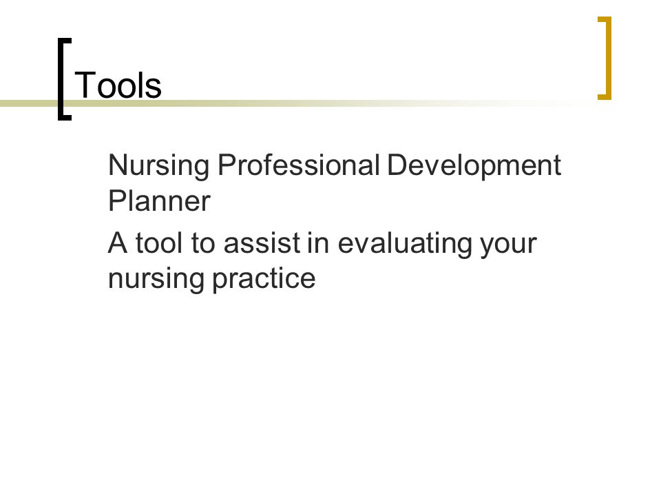 Tools Nursing Professional Development Planner