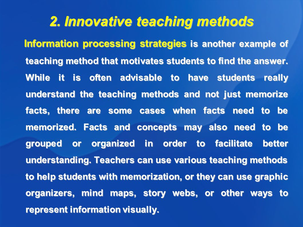 Innovative Ways Of Classroom Teaching ~ Traditional and innovative teaching methods author monika