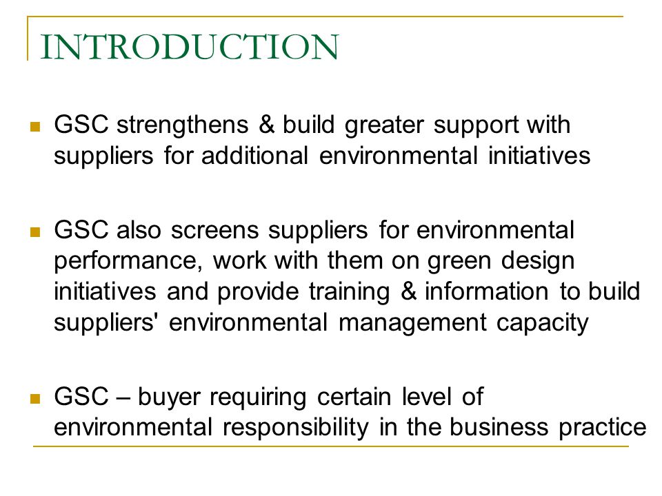 introduction of gsc Buy gsc whole system ebook search gsc introduction global system change a whole system approach to achieving sustainability and real prosperity introduction.