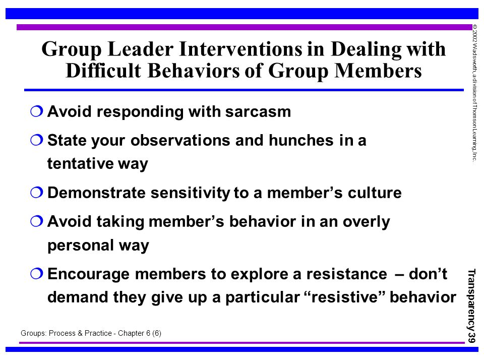group behavior and process The effects of group status on intragroup behavior: implications for group process and outcome abstract how does the status of a group influence the behavior of individuals within the group this dissertation aims to answer this question by investigating the psychological and behavioral implications of membership in.