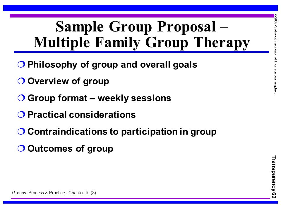 a sample group counseling project proposal Sample dropout intervention program project coffee participants meet for individual and group counseling sessions to summary chart of sample dropout.