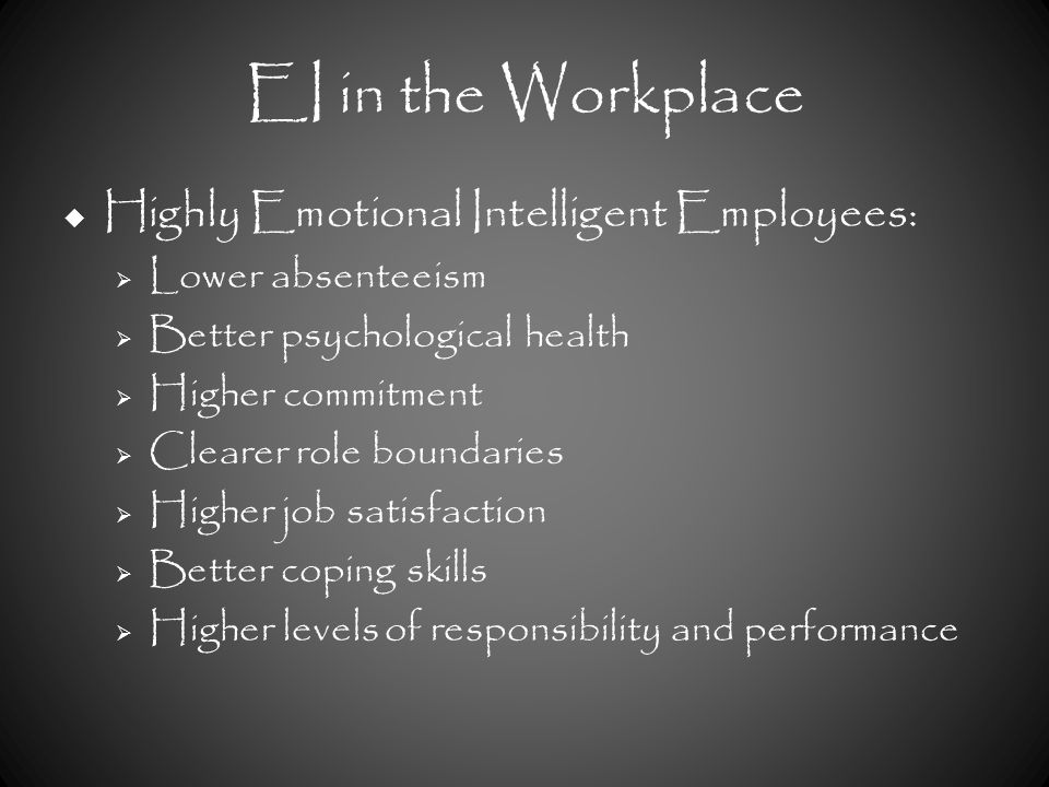 emotional intelligence and job performance pdf