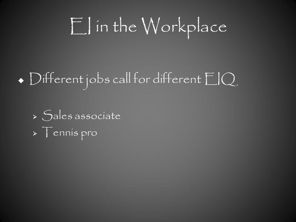 ei in the workplace Want me to speak at your event inquire here:   interested in corporate training inquire here: .