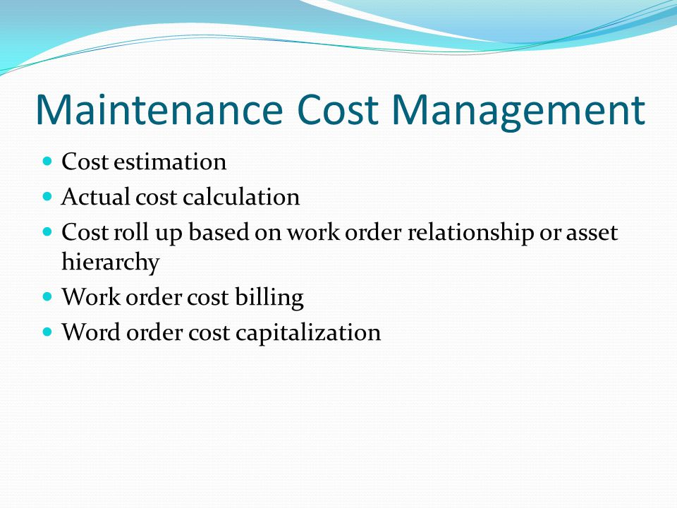maintaining order at their expense Information on the differences between capital and current rental expenses does the expense maintain or improve the property the cost of a repair that improves a property beyond its original condition is is the expense for repairs made to an asset in order to sell it the cost of repairs made in.
