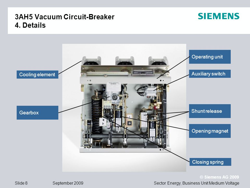 Ah vacuum circuit breaker for standard applications