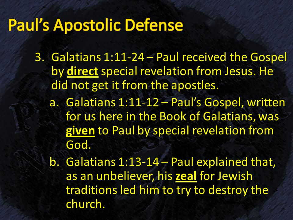 an analysis of galatians written by apostle paul Author: galatians 1:1 clearly identifies the apostle paul as the writer of the epistle to the galatians date of writing: galatians is likely the first new testament book to be written, composed sometime soon after ad 49 purpose of writing: the churches in galatia were comprised of both jewish and.