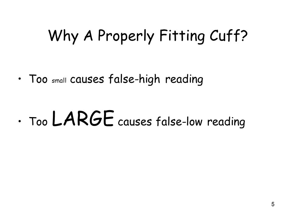 how to properly put on a blood pressure cuff
