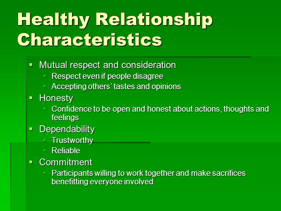 Top 10 Characteristics Of Healthy Relationships