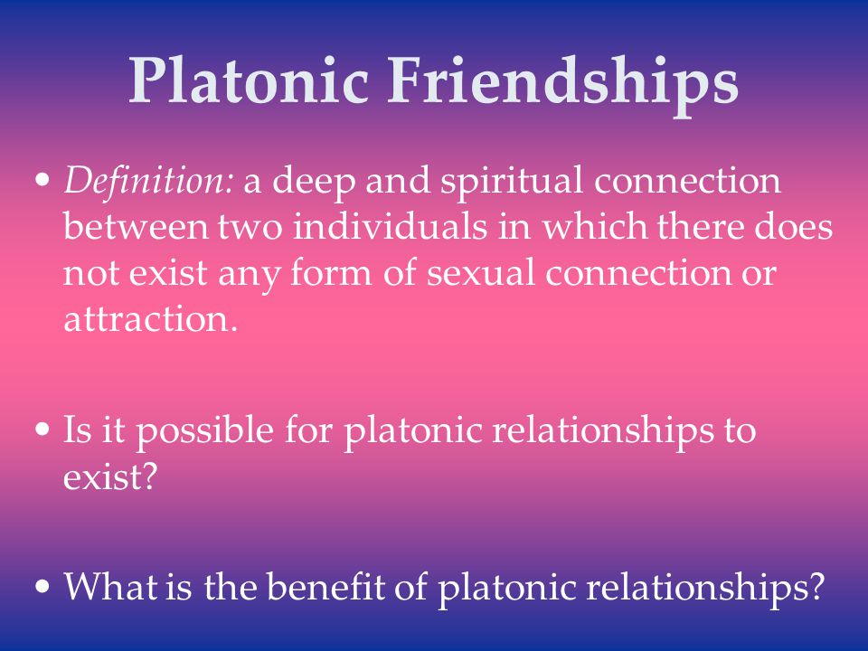 platonic relationship meaning and definition