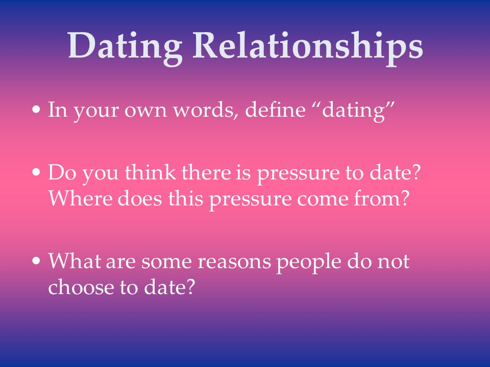 What Does Dating Mean