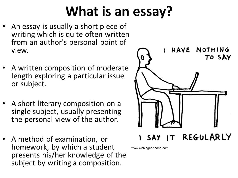 Charmant What Is An Essay An Essay Is Usually A Short Piece Of Writing Which Is Quite