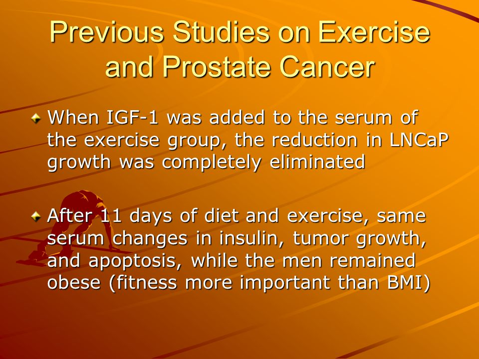 exercise and prostate cancer ppt video online download. Black Bedroom Furniture Sets. Home Design Ideas