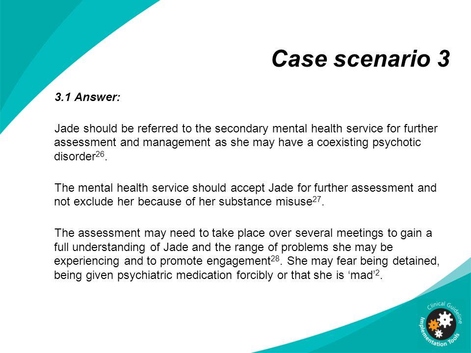 Mental health social work case scenarios