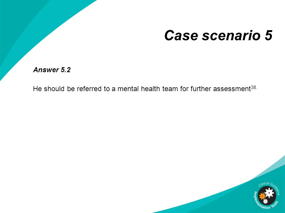 multidisciplinary team in health care case scenario The roles and qualities required of a case manager case management - part 3 by margot phaneuf, rn the health care system multidisciplinary team the case manager must be able to.