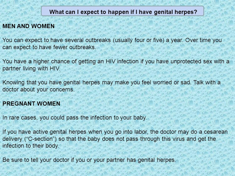 what to do if your girlfriend has herpes