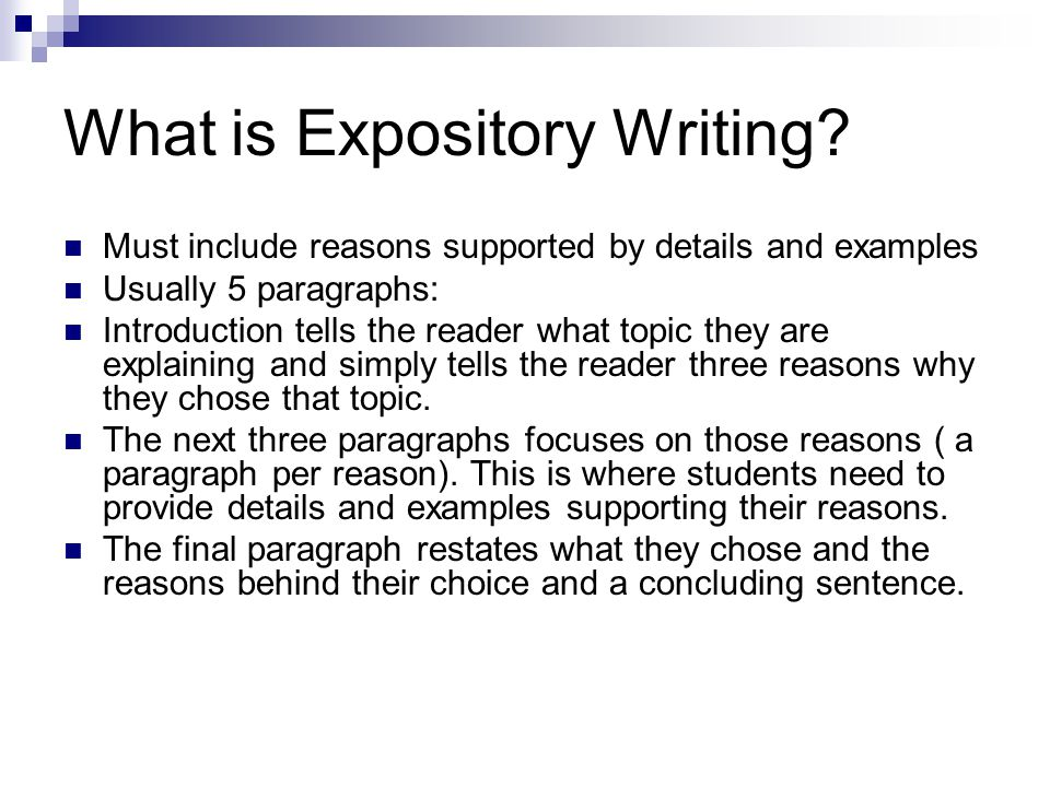 expository writing prompt