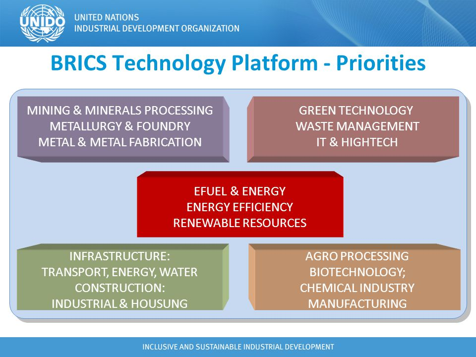 BRICS Technology Platform - Priorities