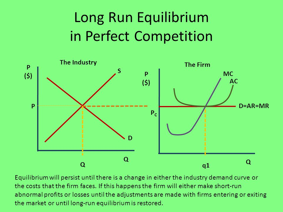 firm behave under perfect competition short and long run Profit maximization in perfectly competitive 95 the perfectly competitive firm's short-run we also address the long-run outcome in perfect competition and.