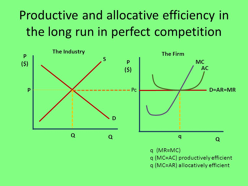 Productive Efficiency – definition and diagrams