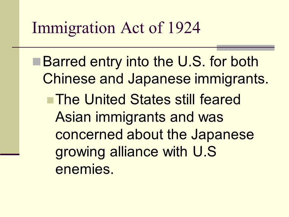 immigration act 1924 dbq The chinese exclusion act was a united states federal law signed by president chester a arthur the immigration act of 1924 restricted immigration even further.