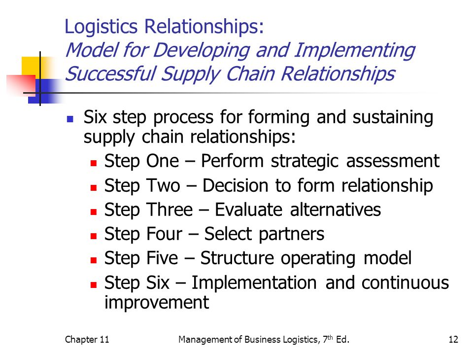 'partnership' supply relationships A long-term relationship between purchaser and supplier is necessary  the  safe enterprise treats suppliers as long-term business partners,.