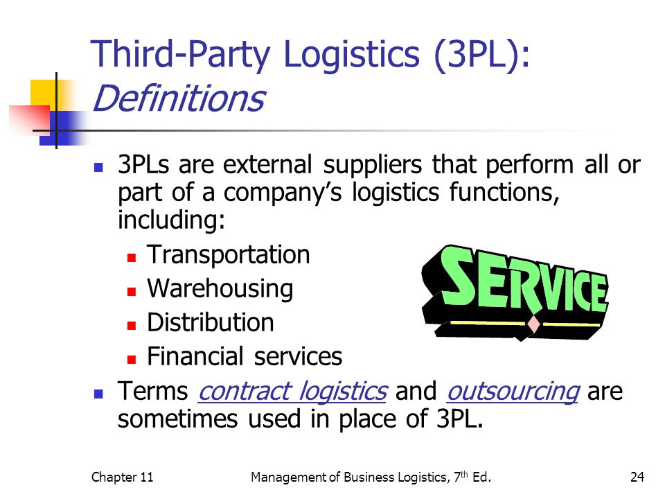 outsourcing distribution to a third party One of our logistics consulting services is to managing the tender process for outsourcing warehousing and outsourcing distribution to a third party logistics provider (3rd party logistics.