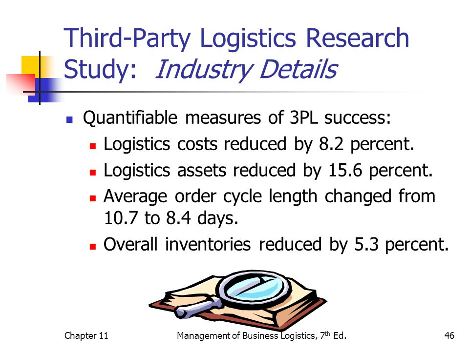 study of profitability of a logistics company This program trains on the importance of logistics management and supply chain in its conception of planning and management of critical enterprise resources, as a contribution to the efficiency, profitability and create competitive advantage by adding value, reducing costs and increasing level of service received by the customer.