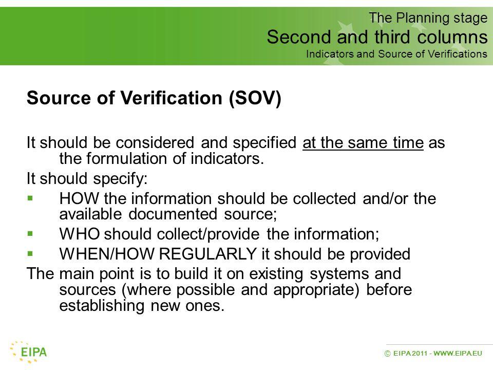 Source of Verification (SOV)