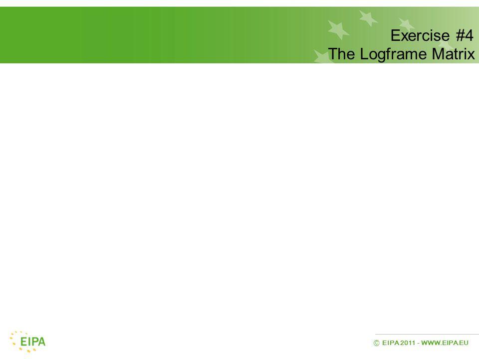 Exercise #4 The Logframe Matrix