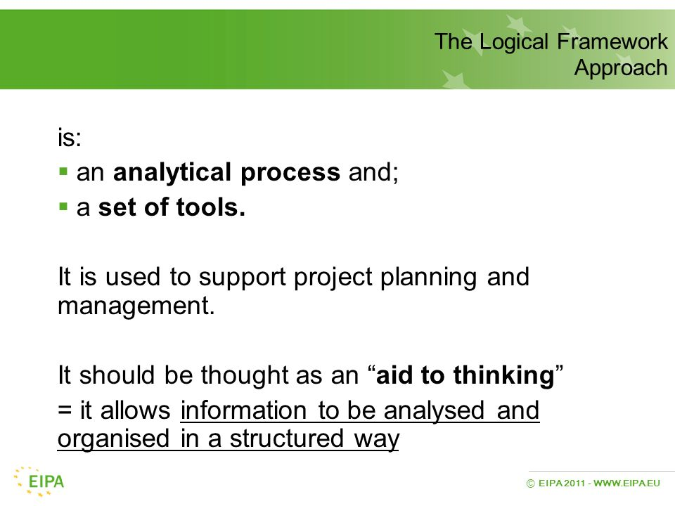 an analytical process and; a set of tools.