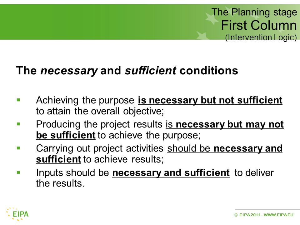 The necessary and sufficient conditions