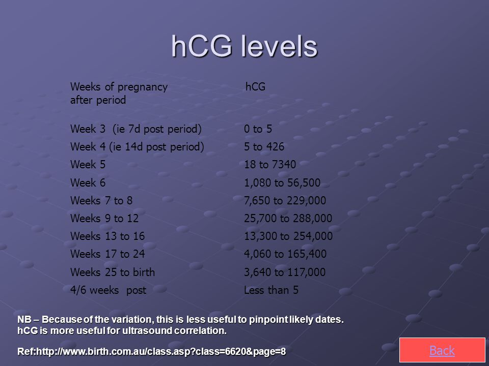 Week four of pregnancy hcg levels