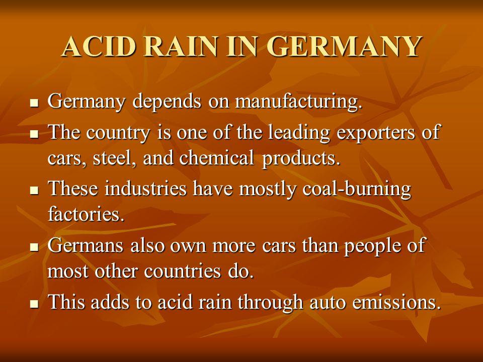 how to solve acid rain problem chemistry acid