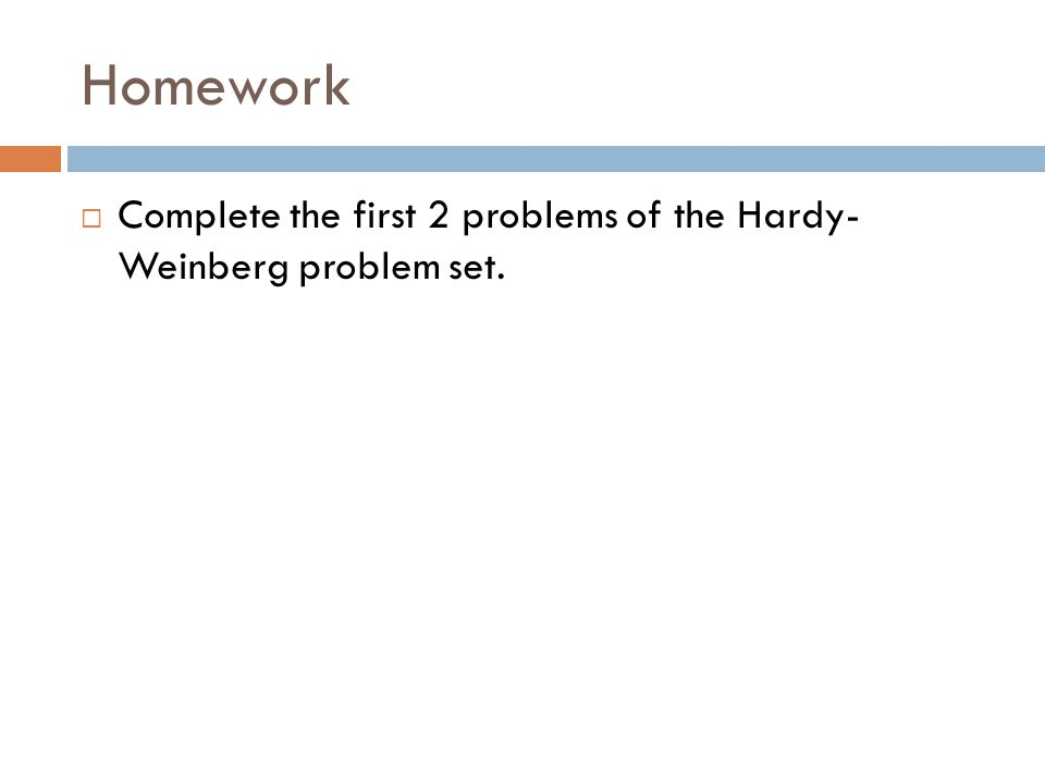 How to Solve HardyWeinberg problems ppt download – Hardy Weinberg Problems Worksheet