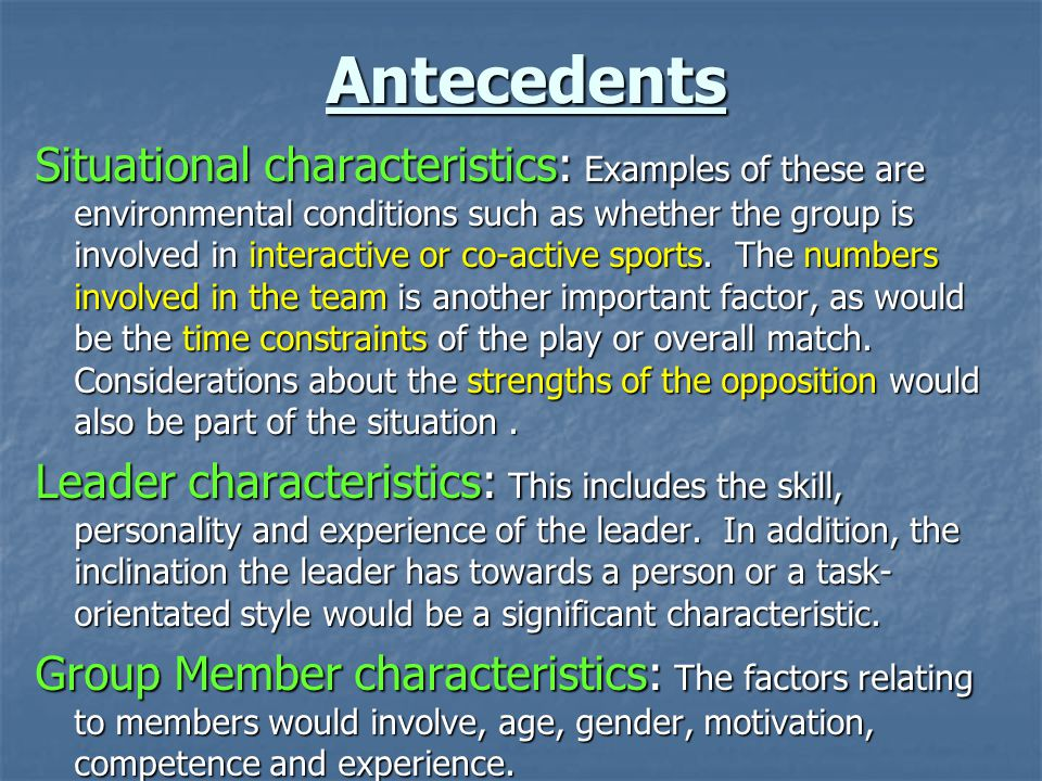 Characteristics Contributing to the Success of a Sports Coach