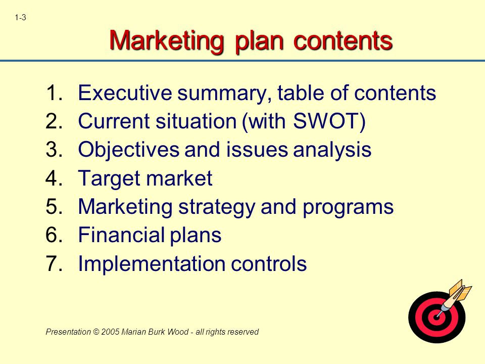 Chapter 1 introduction to marketing planning ppt download - Marketing plan table of contents ...