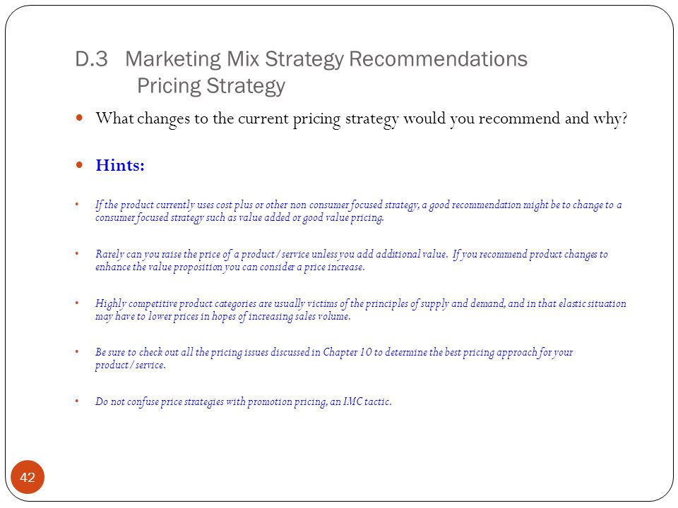 marketing mix recommendations How to add a recommendation to a company's  measurable recommendations to your marketing  what is the difference between place & promotion in the marketing mix.