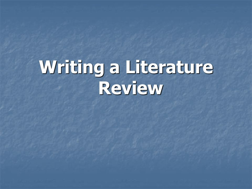 discuss the importance of literature review in carrying out research