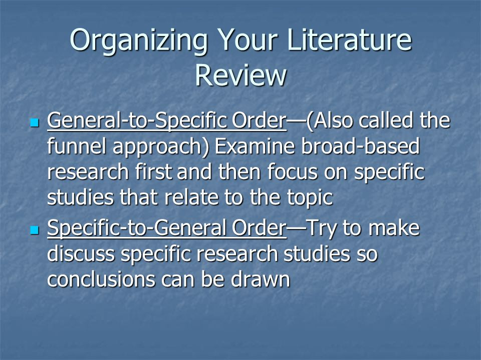 organizing literature review articles Literature review: e-leadership probal dasgupta regent university this article reviews existing literature on e-leadership and the attendant concept of virtual.
