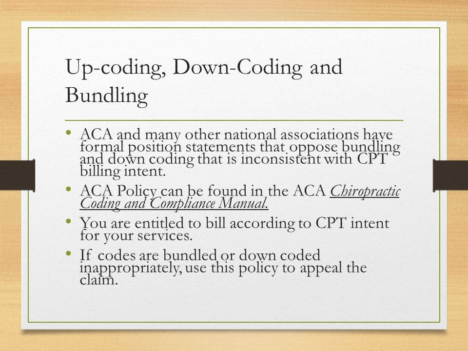 Coding Compliance For The Chiropractic Practice 2015