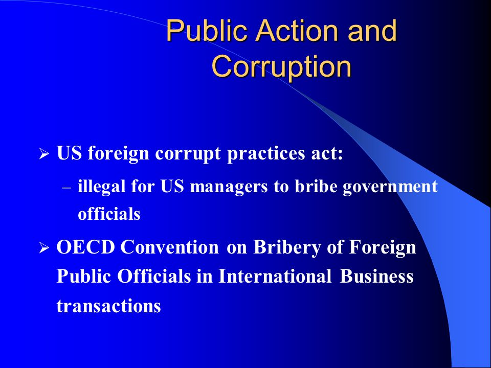Public Action and Corruption