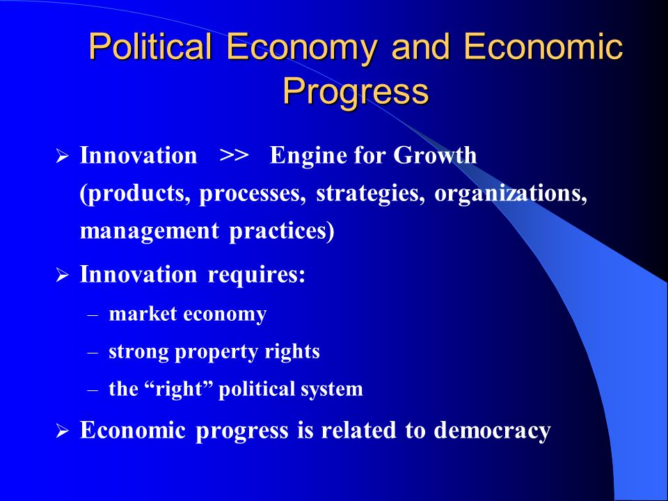 Political Economy and Economic Progress