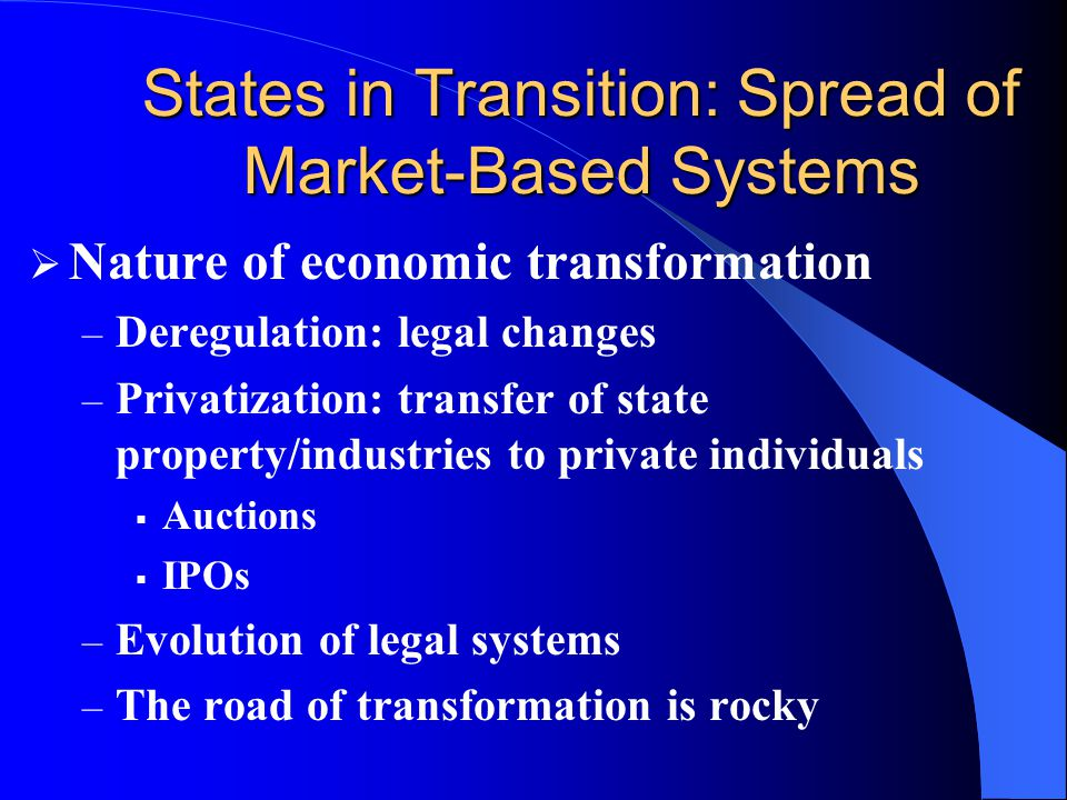 States in Transition: Spread of Market-Based Systems