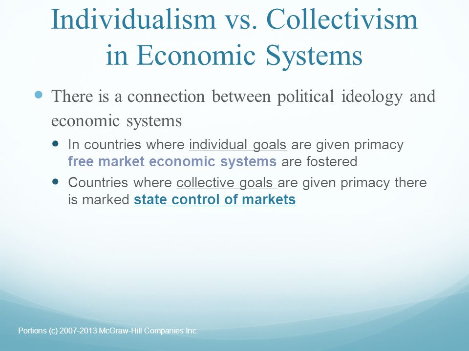 Individualism vs. Collectivism in Economic Systems