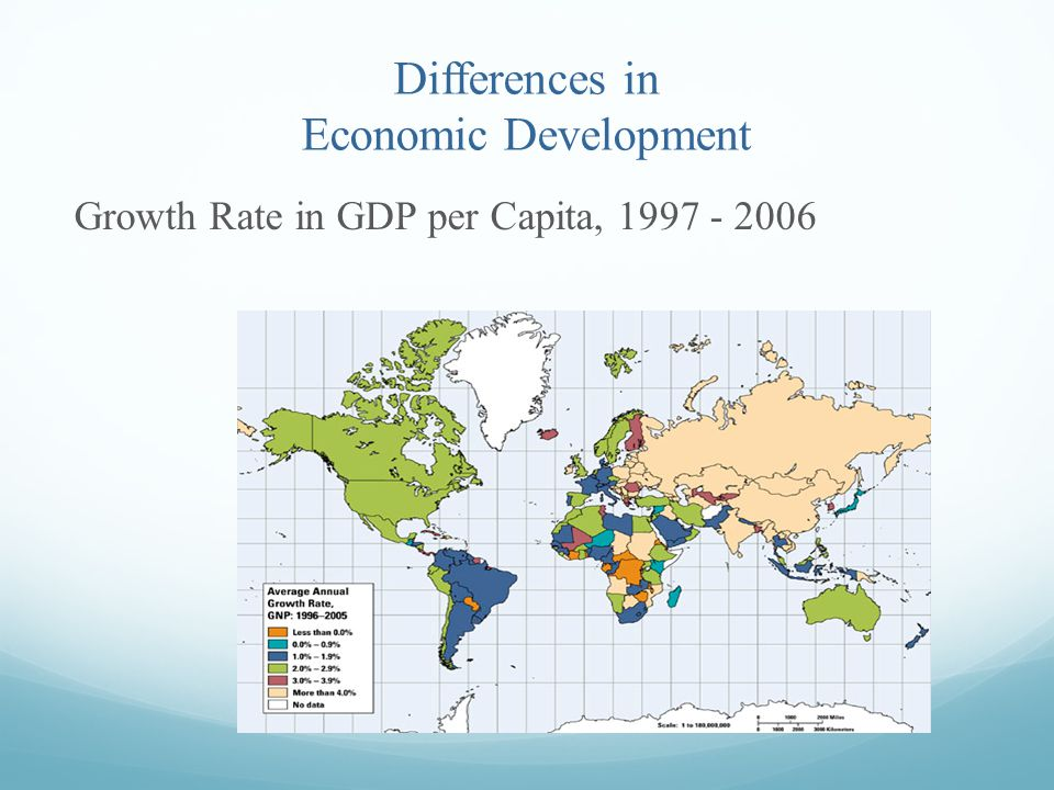 Differences in Economic Development